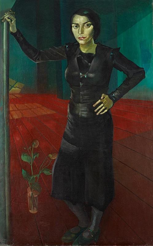 <em>Meine Frau</em>, um 1932, Öl auf Leinwand, 161 × 100,5 cm