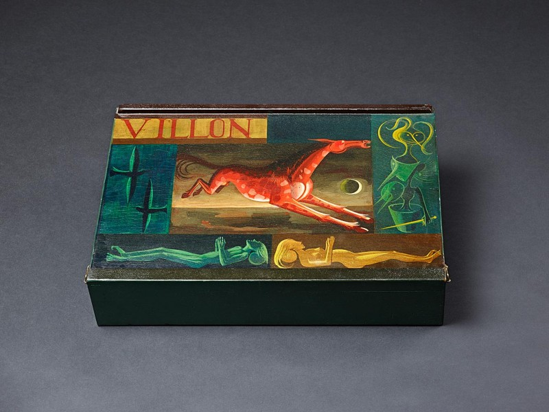<em>Villon-Kassette</em>, 1936, Öl auf Holz, 11 × 56 × 40 cm