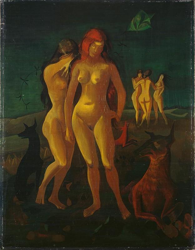 Nach Villons <em>Ballade von der Vergänglichkeit</em> , 1937, Öl auf Sperrholz, 80,5 × 62 cm