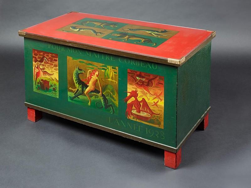 <em>Truhe für Corbeau</em>, 1938, Öl auf Holz, 63,5 × 101 cm