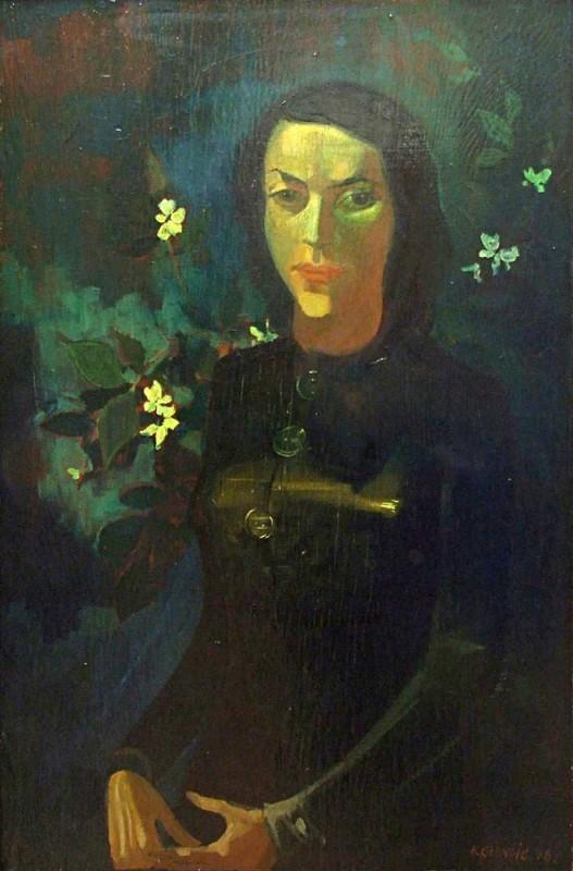 <em>Bildnis Lea Grundig</em>, 1946, Öl auf Sperrholz, 92 x 61cm