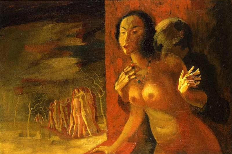 <em>Abschied</em>, 1939, Öl auf Leinwand, 80 x 120 cm