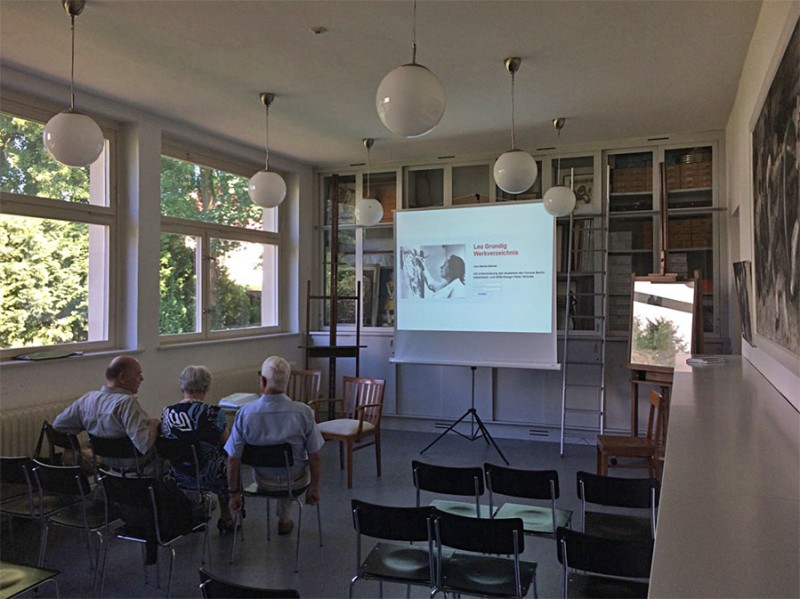 Workshop zum digitalen Werkverzeichnis Lea Grundig im Max-Lingner-Haus Berlin