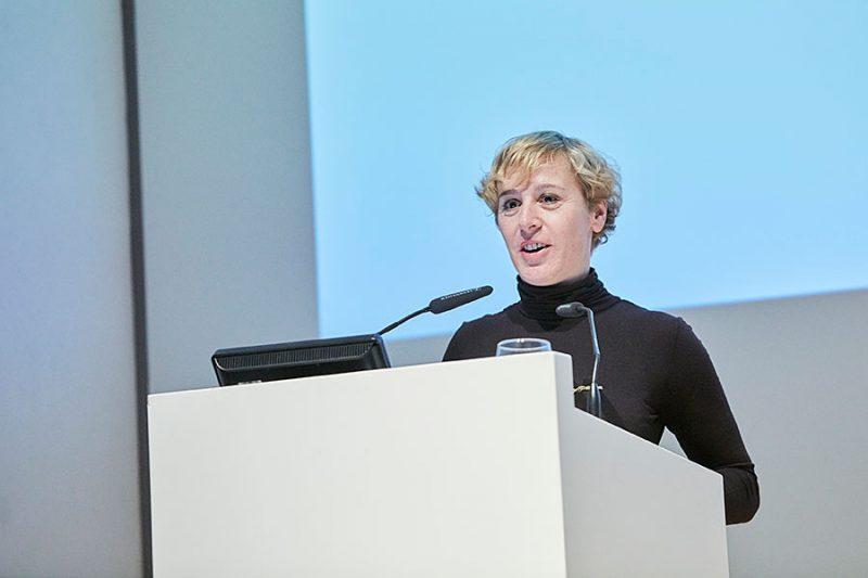 Vesna Vuković vom Kollektiv BLOK, Gewinnerin des Hans-und-Lea-Grundig-Preises in der Kategorie «Kunstvermittlung/Kunstgeschichte», Foto: © Orla Conoll